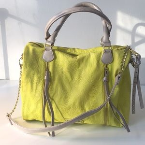 Steve Madden Large Neon Handbag with Zipper Detail